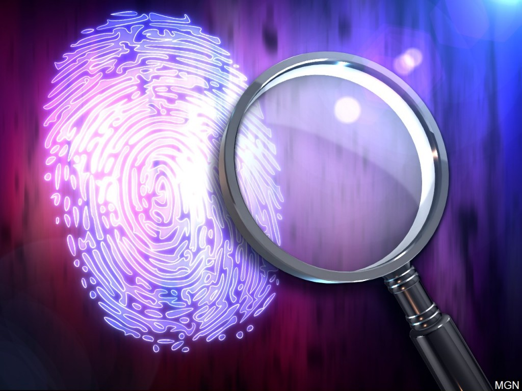 Cold Case With Fingerprint And Magnifying Glass