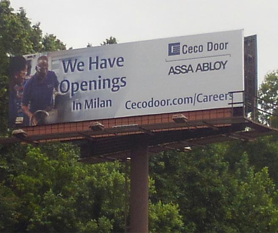 Ceco Door Billboard From Facebook