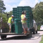 Waste Management Delivers New Gabage Cans 071221 1