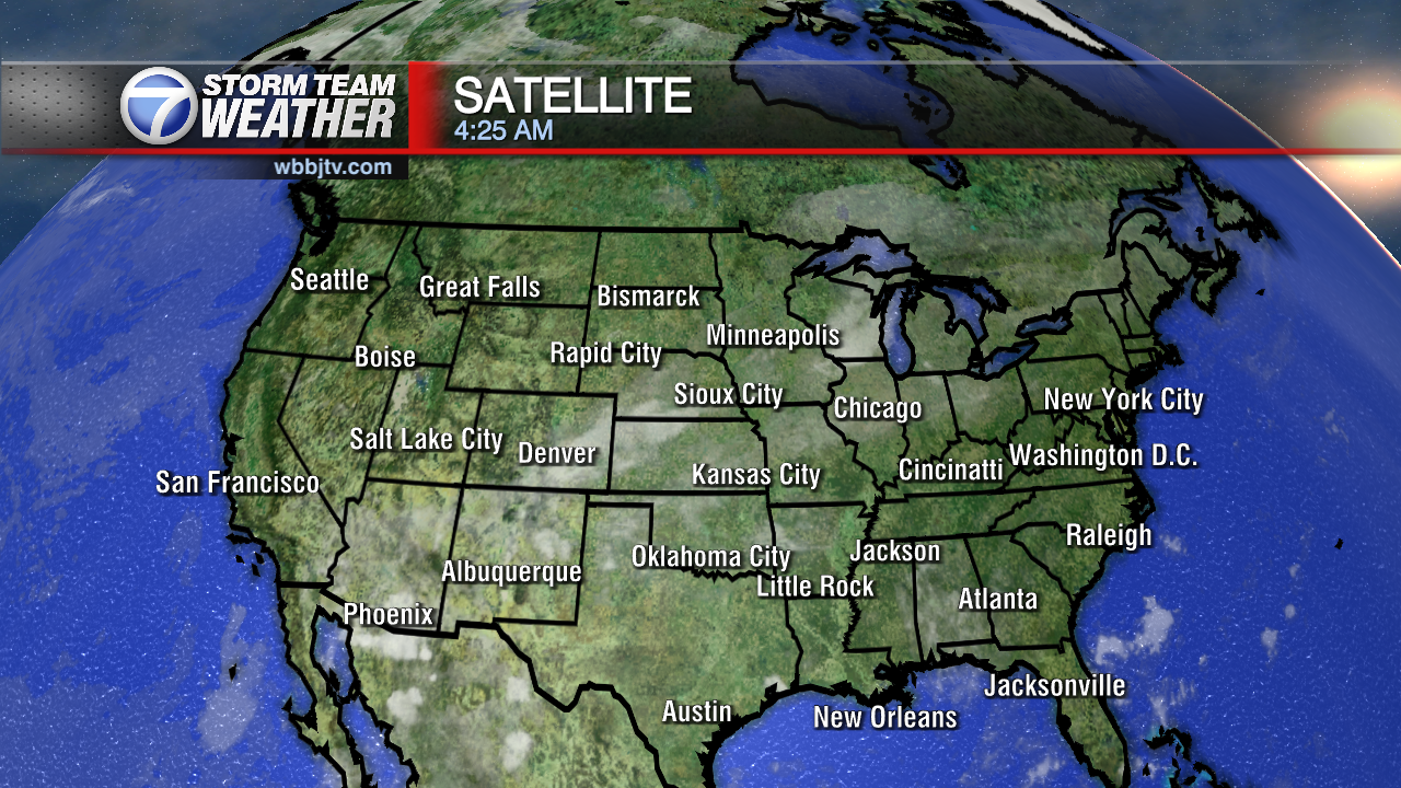 National Weather Map : Maps wbbj tv