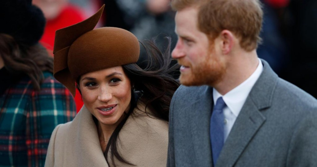 (L-R) US actress and fiancee of Britain's Prince Harry Meghan Markle and Britain's Prince Harry arrive to attend the Royal Family's traditional Christmas Day church service at St Mary Magdalene Church in Sandringham