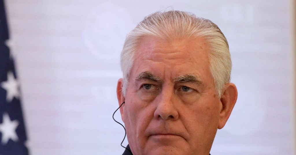 U.S. Secretary of State Rex Tillerson listens during a joint news conference with Canadian Foreign Minister Chrystia Freeland and Mexican Foreign Minister Luis Videgaray (not pictured) in Mexico City