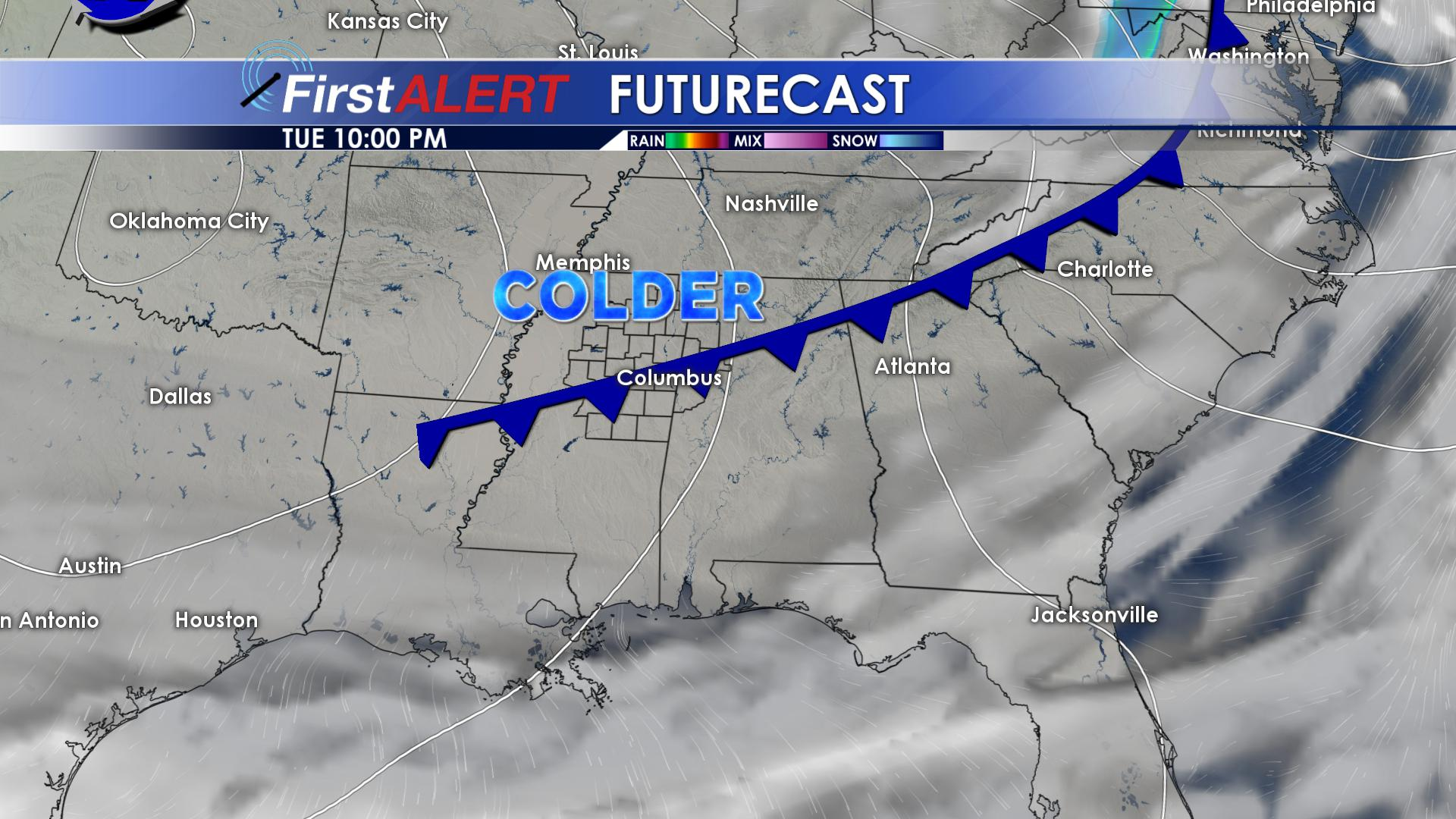 Tuesday Night's Cold Front