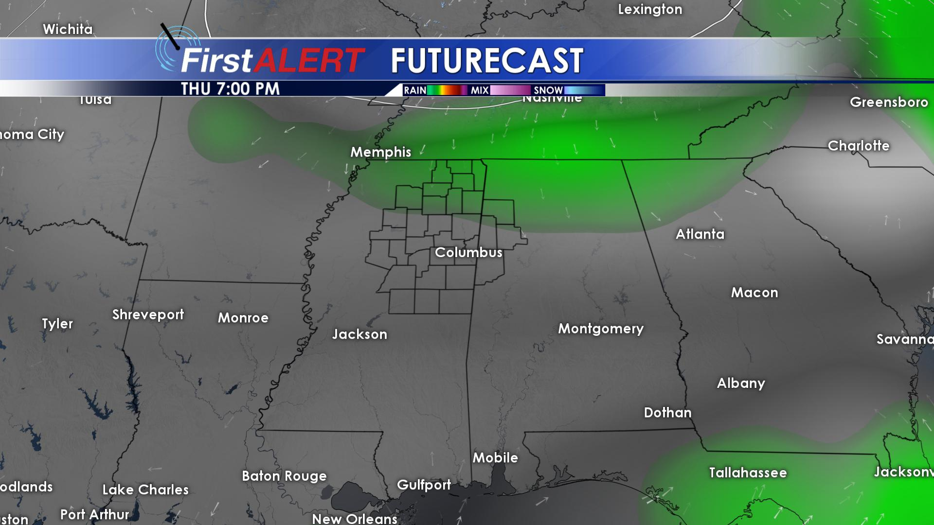 Isolated Showers Return