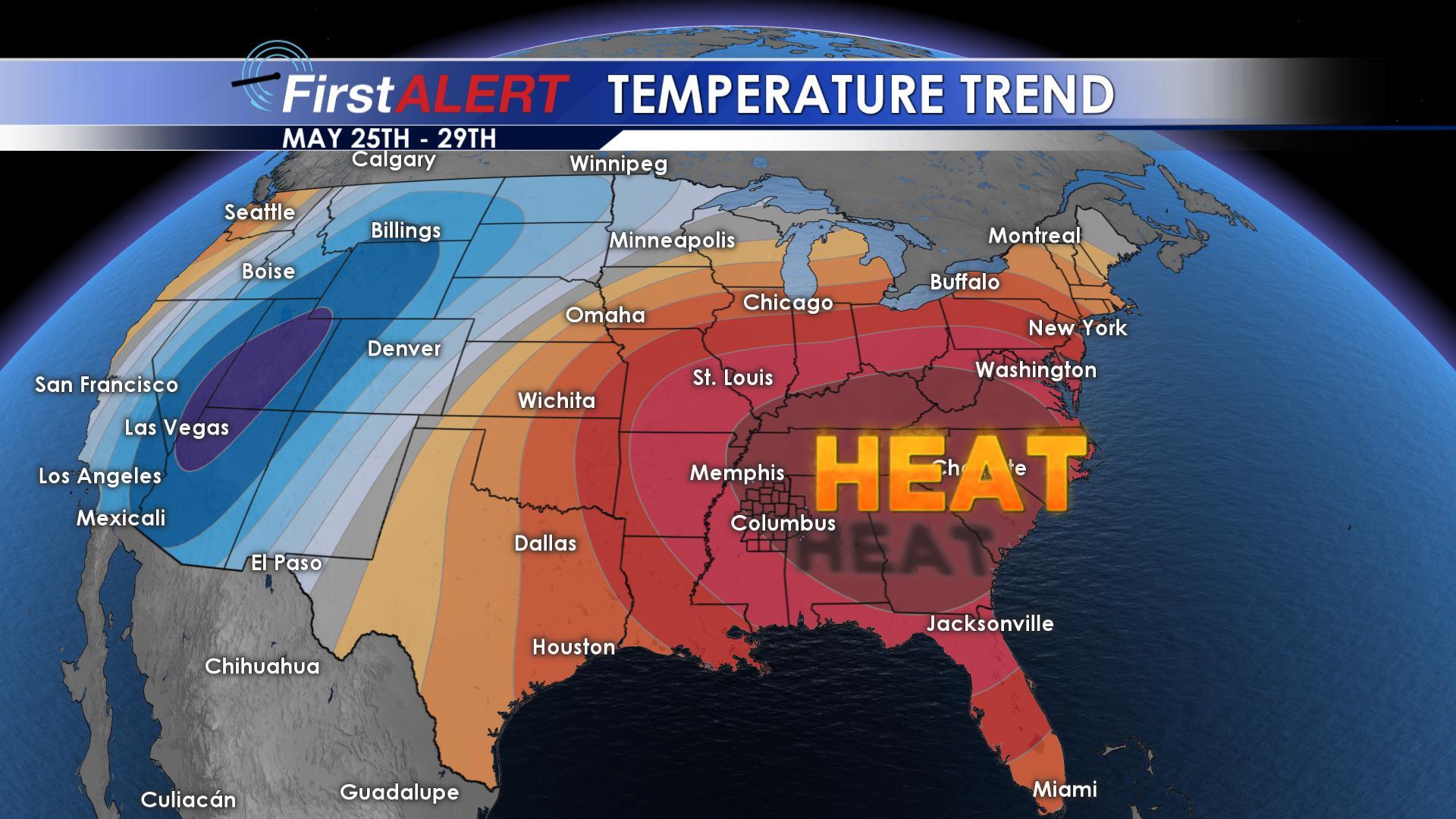 Above Average Temperatures