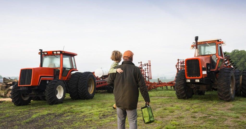 """""""A photograph of  a farmer"""