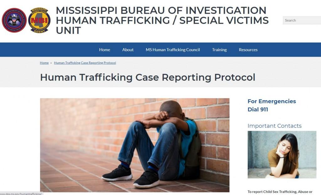 Human Trafficking Website