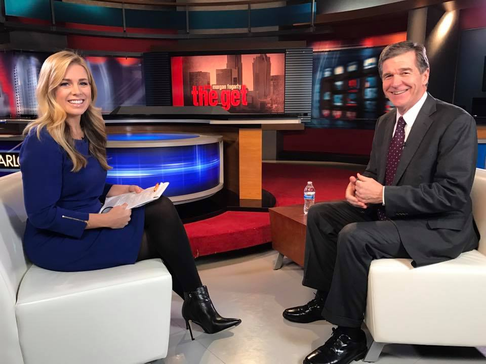 Morgan Fogarty & NC Gov Roy Cooper, The Get on WCCB, Charlotte's CW