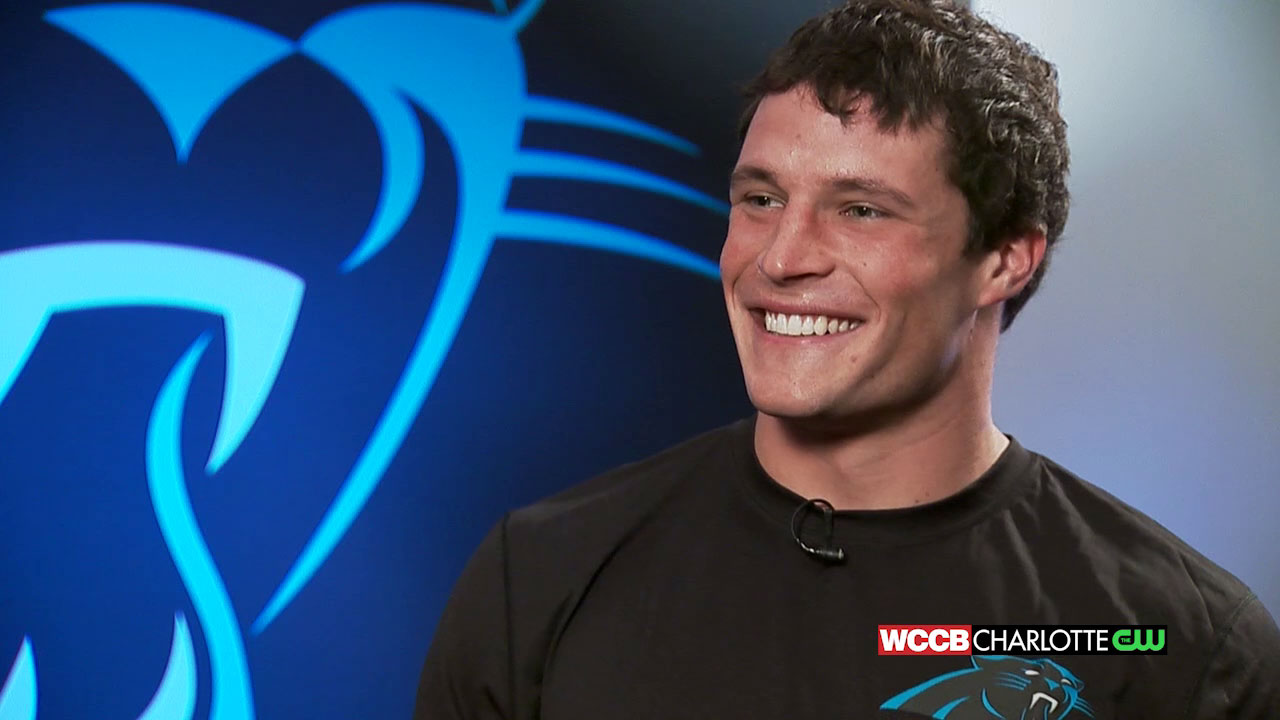 The Get with Morgan Fogarty Luke Kuechly WCCB Charlotte