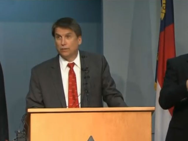 Governor Pat McCrory gives a Winter Weather News Conference
