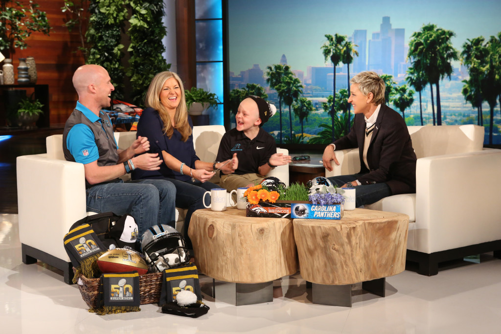 Braylon Beam appears on Ellen