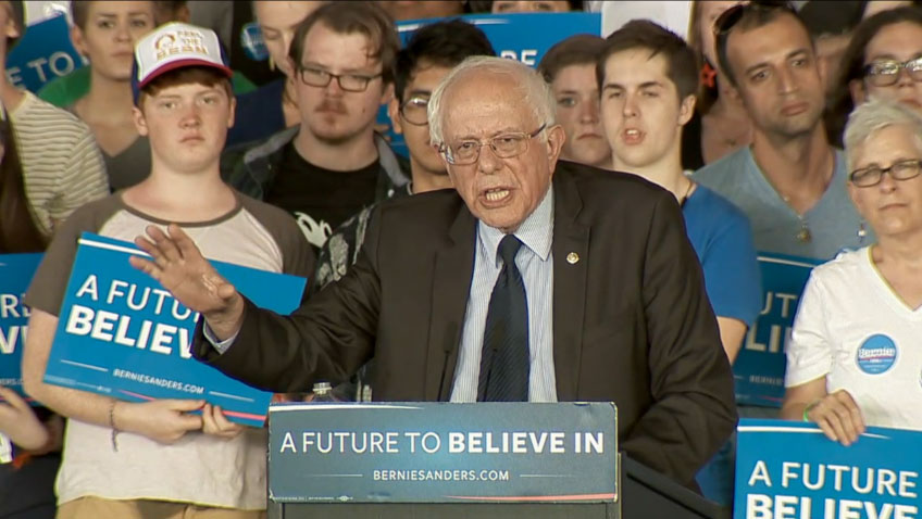 Bernie Sanders hosted a campaign rally at PNC Music Pavilion in Charlotte, North Carolina