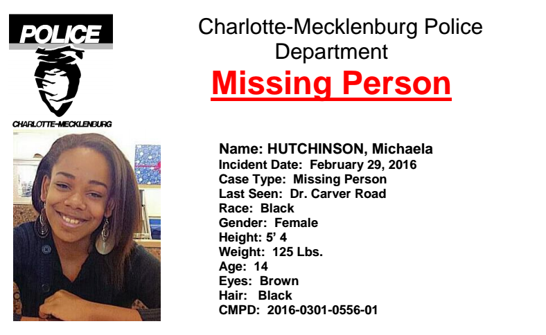 UPDATE Missing Teen Found Safe WCCB Charlotte