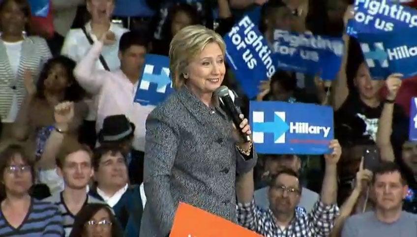 Hillary Clinton Rally Grady Cole Center Charlotte NC