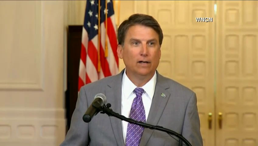 NC Gov. Pat McCrory Holds News Conference After Filing Lawsuit Against Federal Government Over HB2