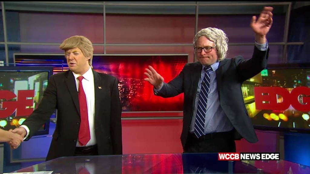 Trump vs Bernie on WCCB News Edge