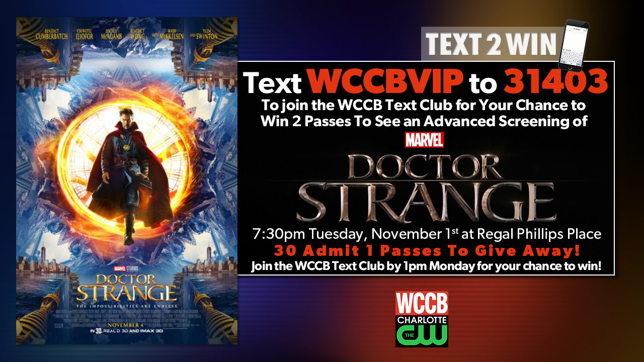 Text2Win Pre-screening Passes To See 'Doctor Strange'