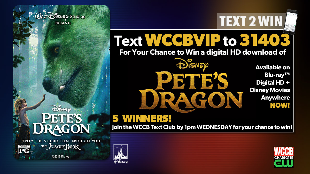 Win a copy of Disney's Pete's Dragon from WCCB, Charlotte's CW