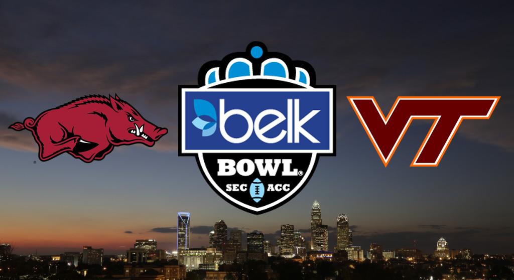 Belk Bowl Preview: Arkansas (SEC) vs. 18 Virginia Tech (ACC) - WCCB ...