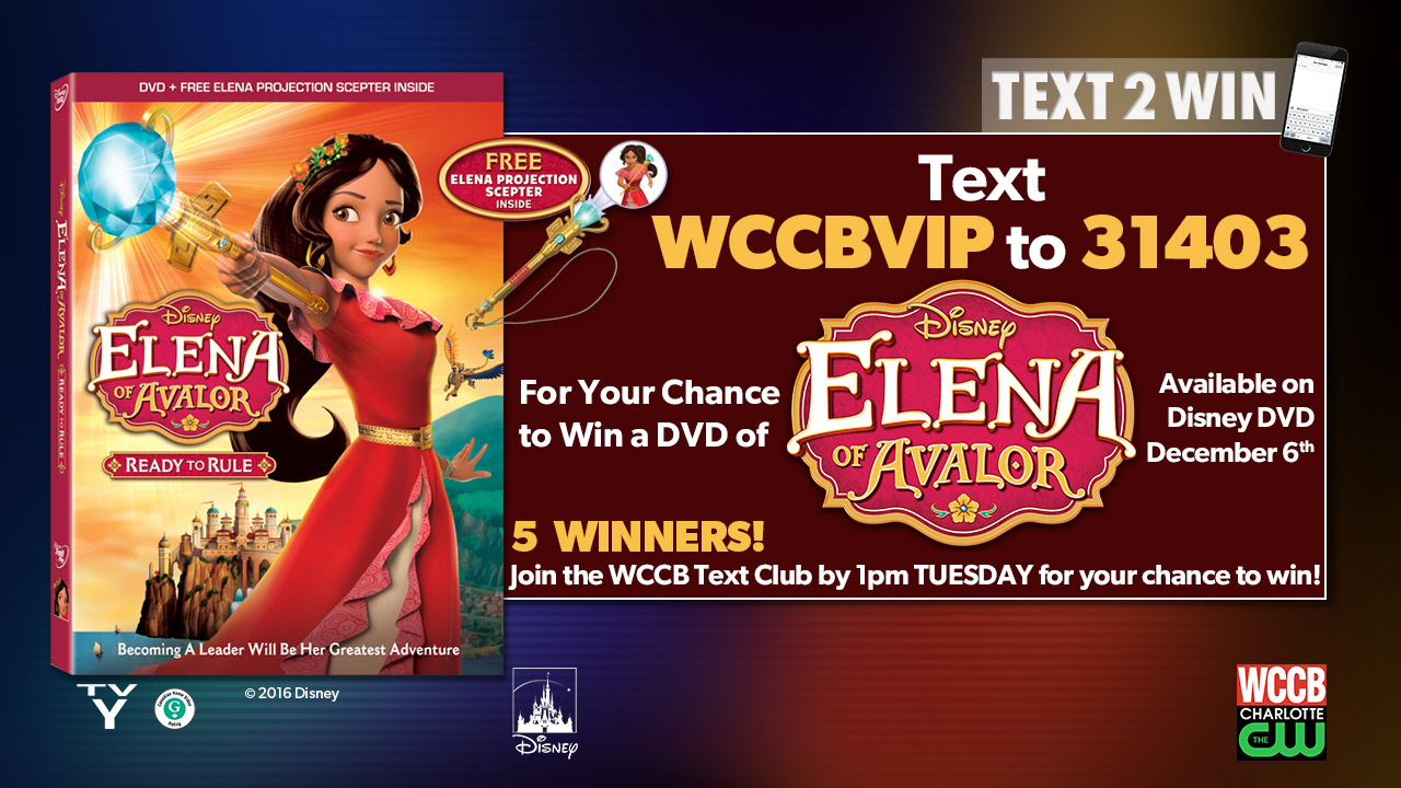 Win Elena of Avalor from WCCB, Charlotte's CW