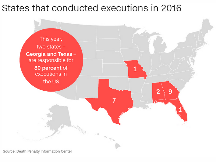 What Dylann Roofs Death Sentence Really Means WCCB Charlotte - Us states with death penalty map