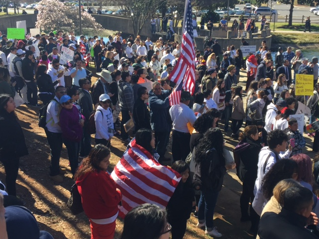 """A Day Without Immigrants"" Protest in Charlotte"
