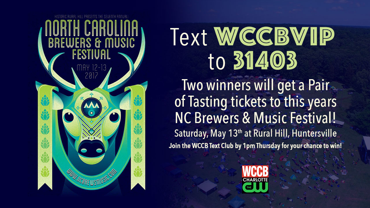 Win tickets to the NC Brewers and Music Festival from WCCB, Charlotte's CW