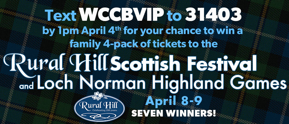Win tickets to the Scottish Festival and Highland Games at Rural Hill from WCCB, Charlotte's CW