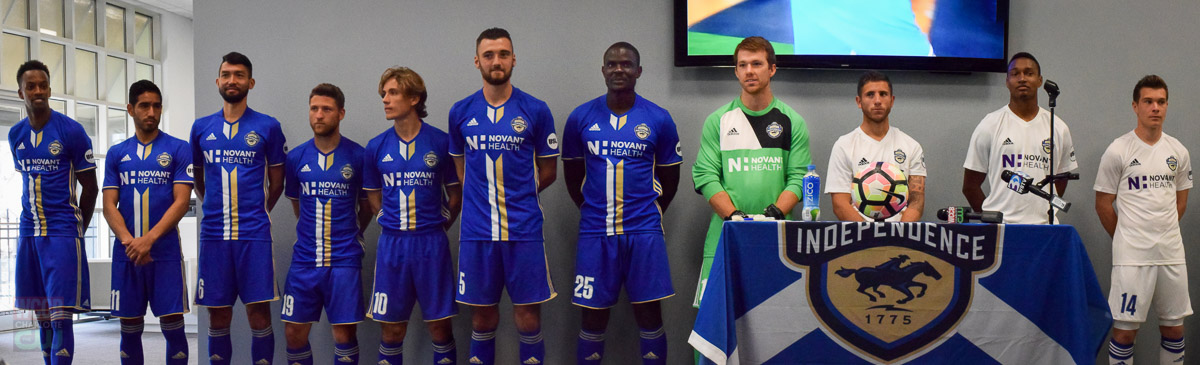 The Charlotte Independence reveal their new 2017 team kit and sponsor - Novant Health