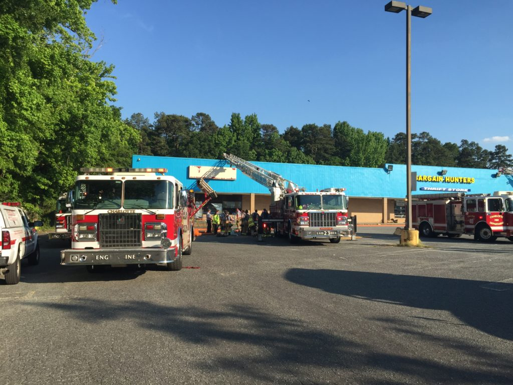 2 Alarm Fire Breaks Out At East Charlotte Thrift Store Wccb Charlotte