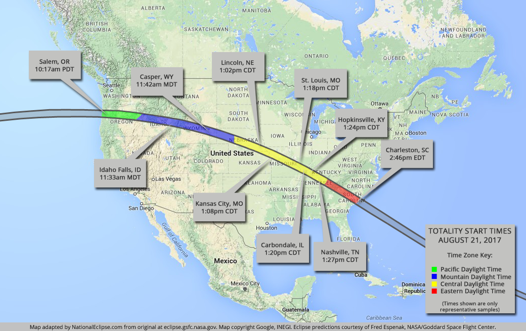 FULL GUIDE Total Solar Eclipse Sweeps Nation On August 21st WCCB