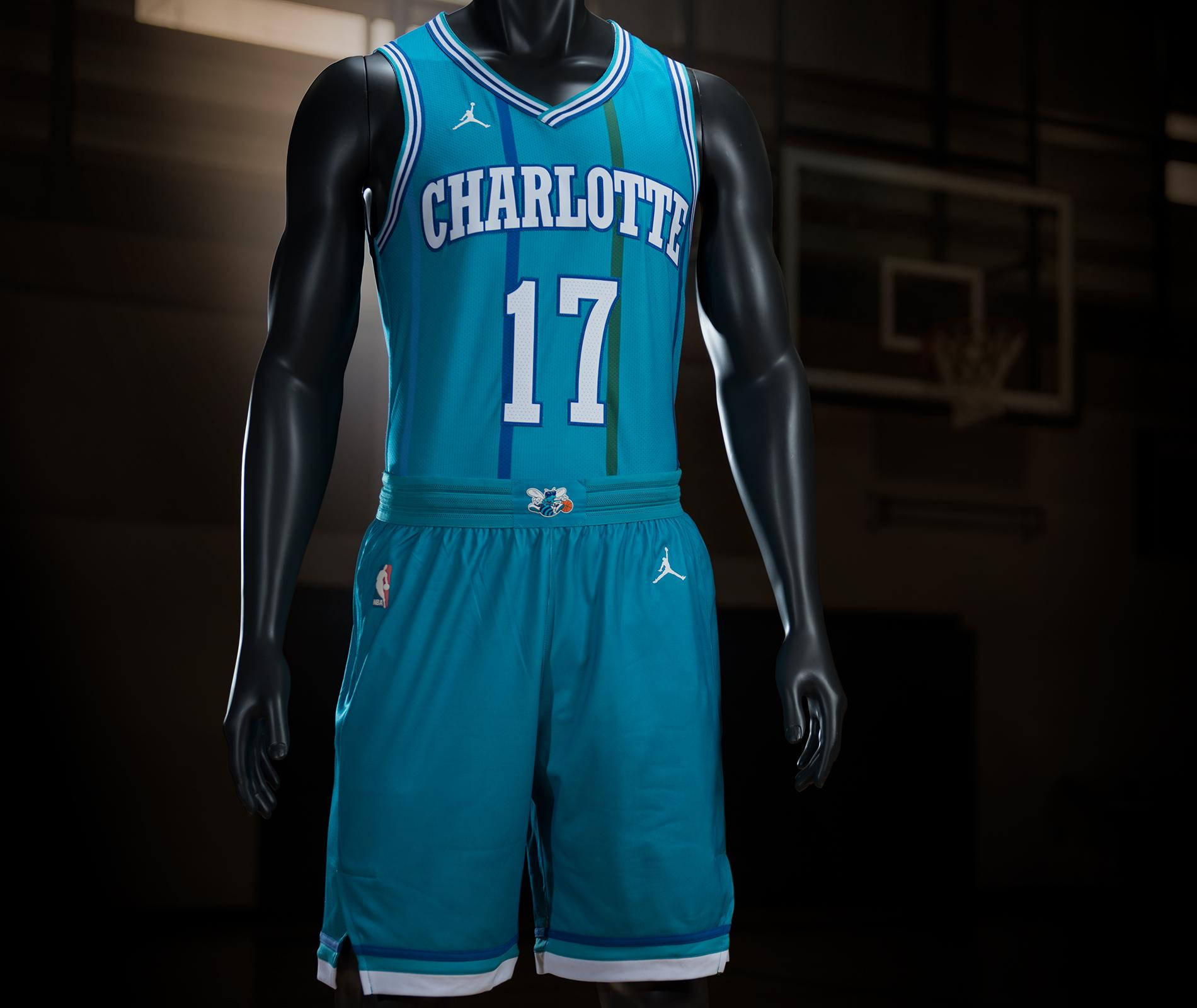 91eaa190d14 Charlotte will wear the classic uniforms for three home games in  2017-2018 Â November 15 against the Cleveland Cavaliers