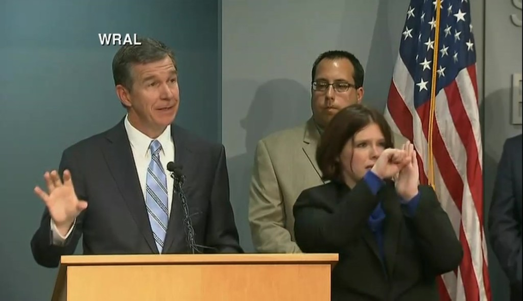 Gov Roy Cooper on NC State of Emergency