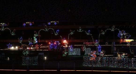 Charlotte Motor Speedway Christmas Lights 2017