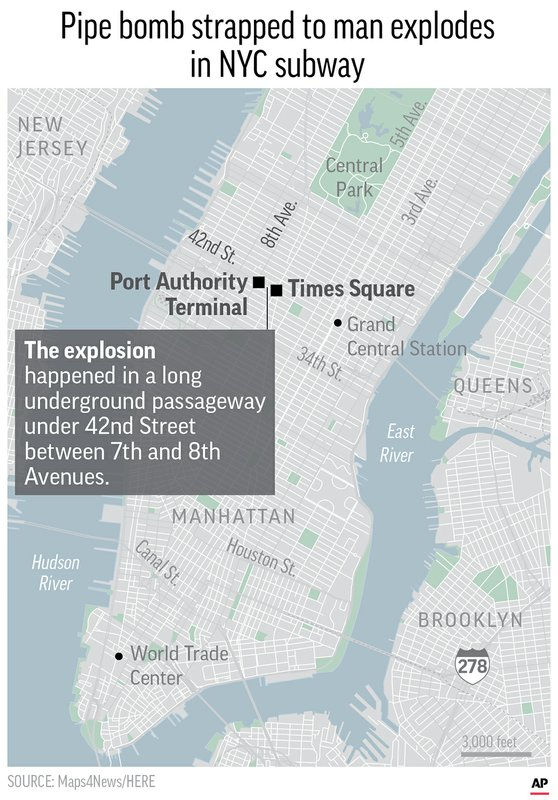Ny 2017 Subway Map.3 Hurt When Bomb Strapped To Man Explodes In Ny Subway Map Wccb