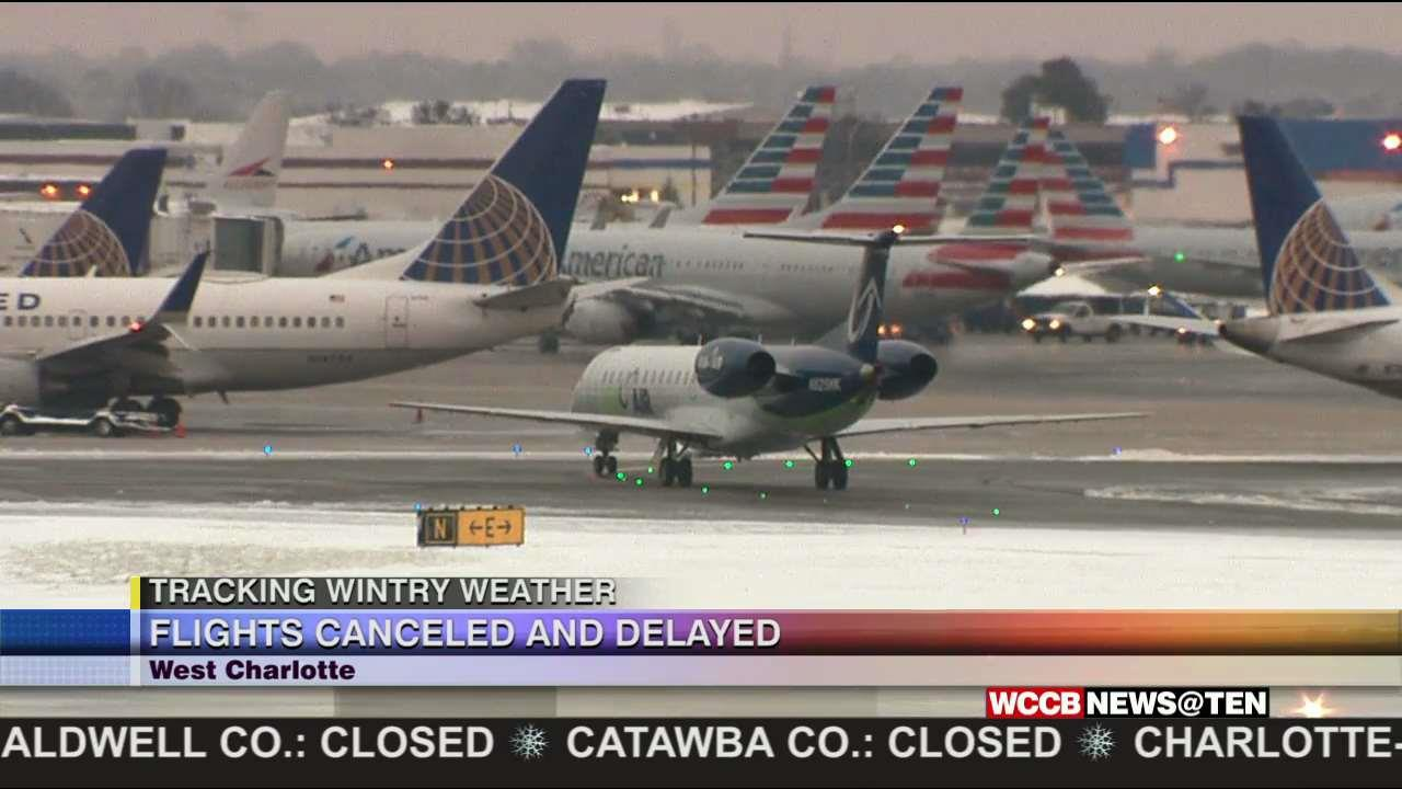 Canceled Flights And Delays Not A Huge Issue At Clt