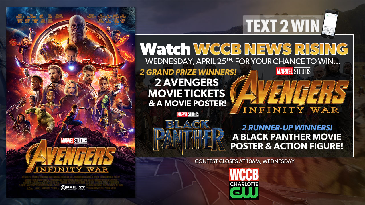 Text2Win Avengers: Infinity War Movie Tickets Or A Black