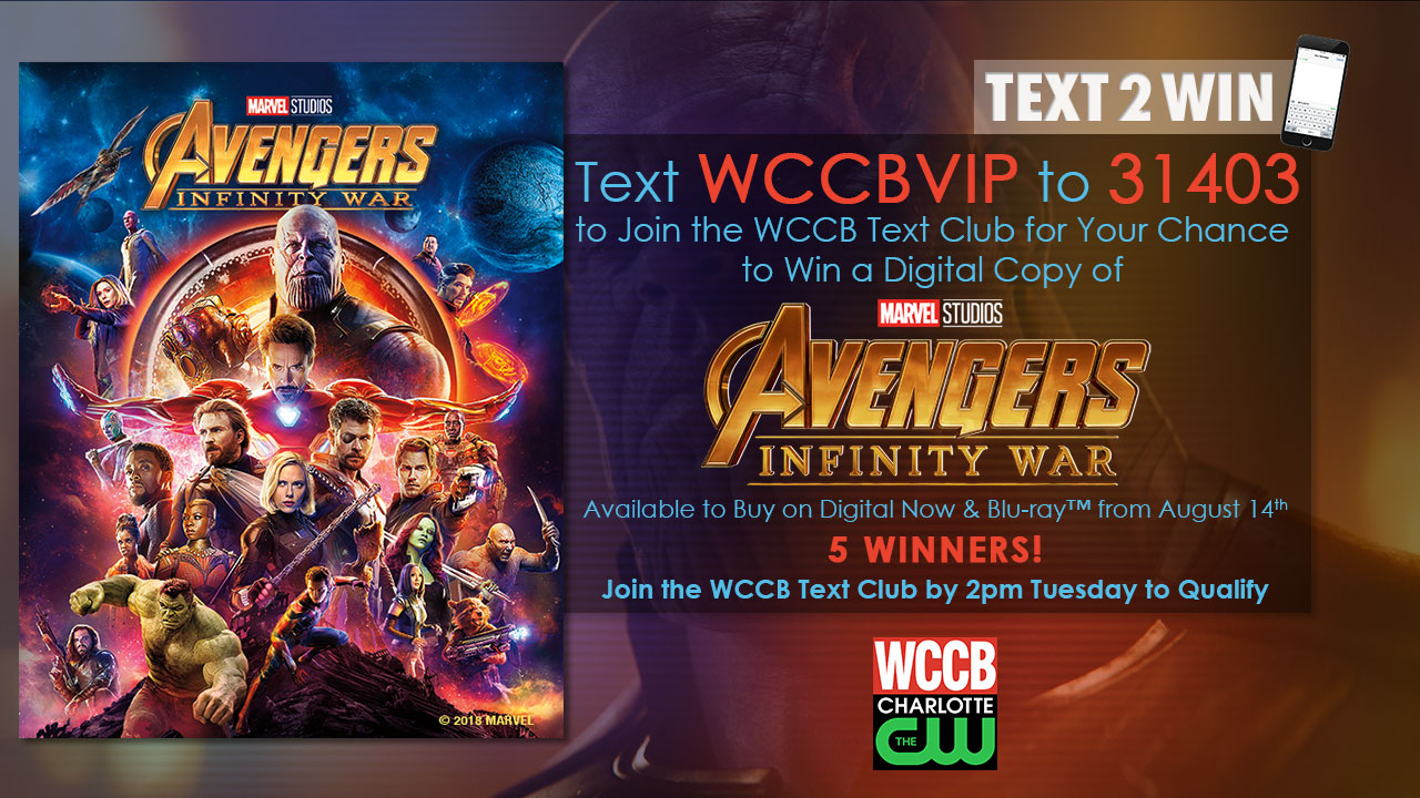 Win Avengers: Infinity War on Digital from WCCB Charlotte's CW
