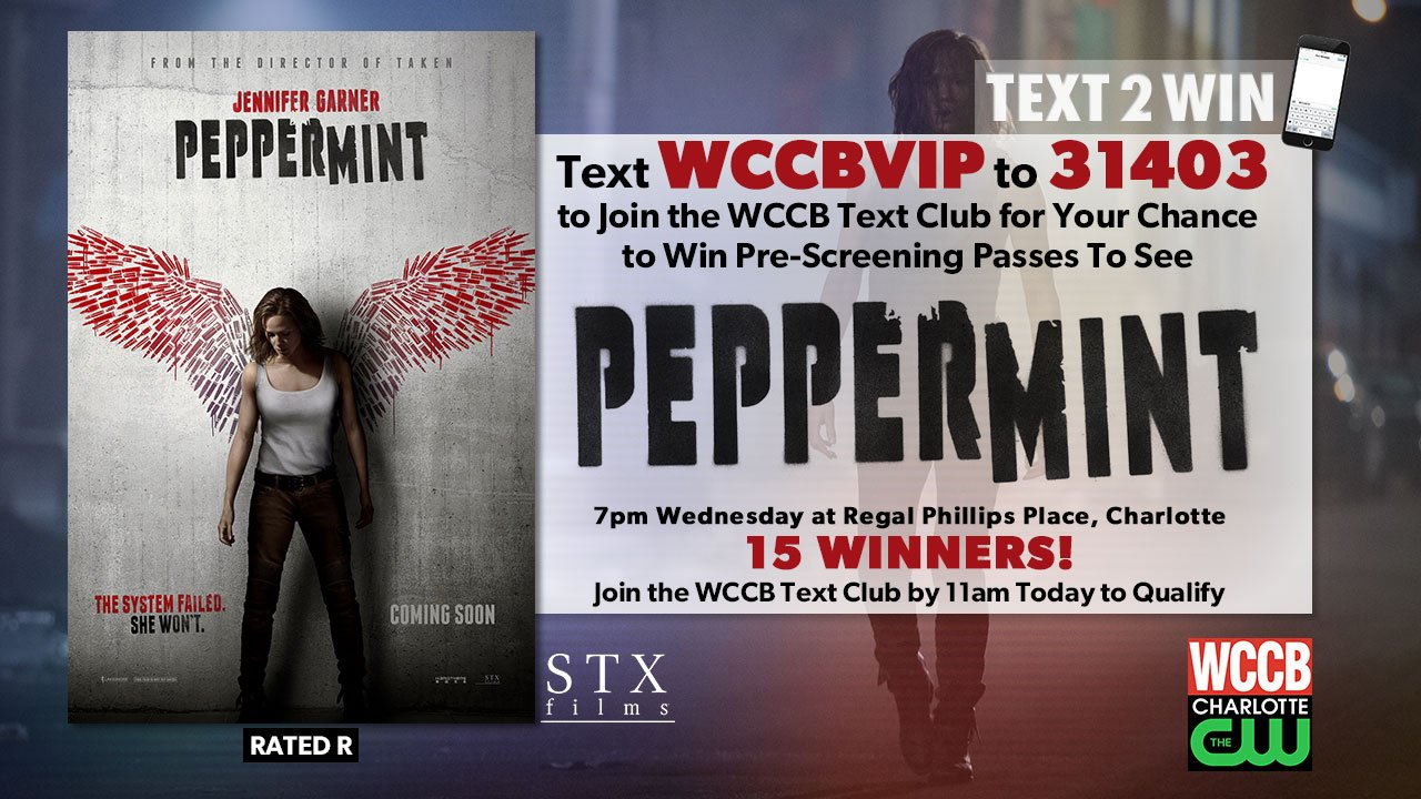 Win pre-screening passes to see Peppermint from WCCB Charlotte's CW