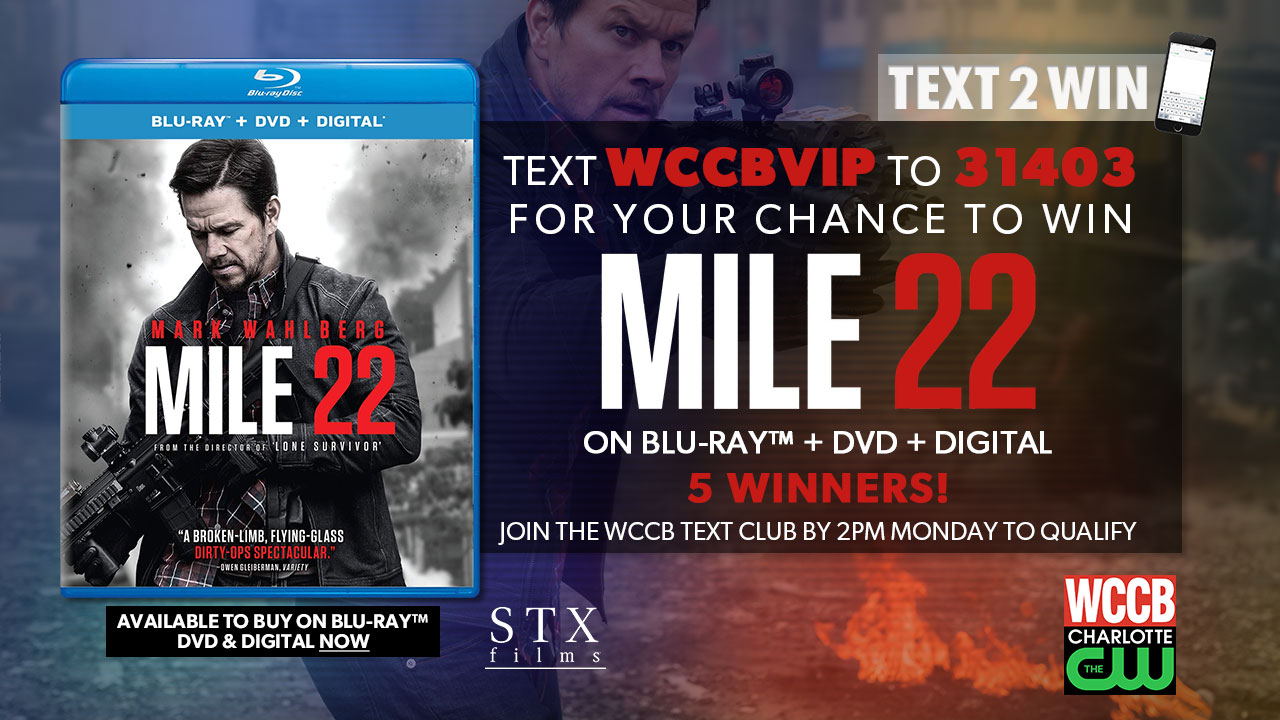 Win Mile 22 on Blu-ray, DVD and Digital from WCCB Charlotte's CW