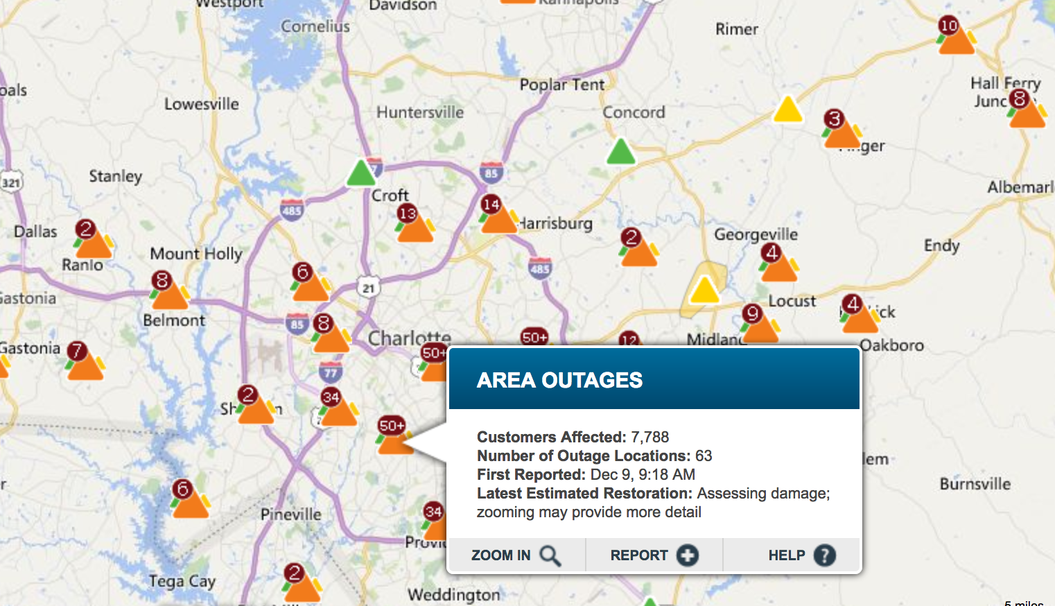 Thousands Still Without Power Across North & South Carolina Due To ...