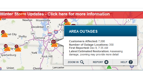 Thousands Still Without Power Across North & South Carolina