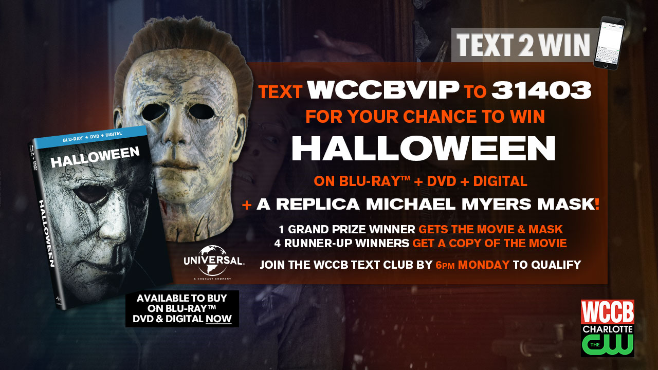 Win Halloween on Blu-ray and a Michael Myers mask from WCCB Charlotte's CW