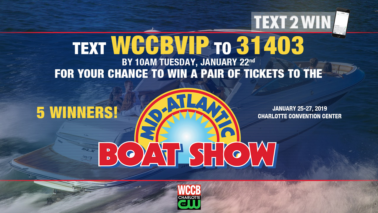 Win tickets to the Mid-Atlantic Boat Show at the Charlotte Convention Center