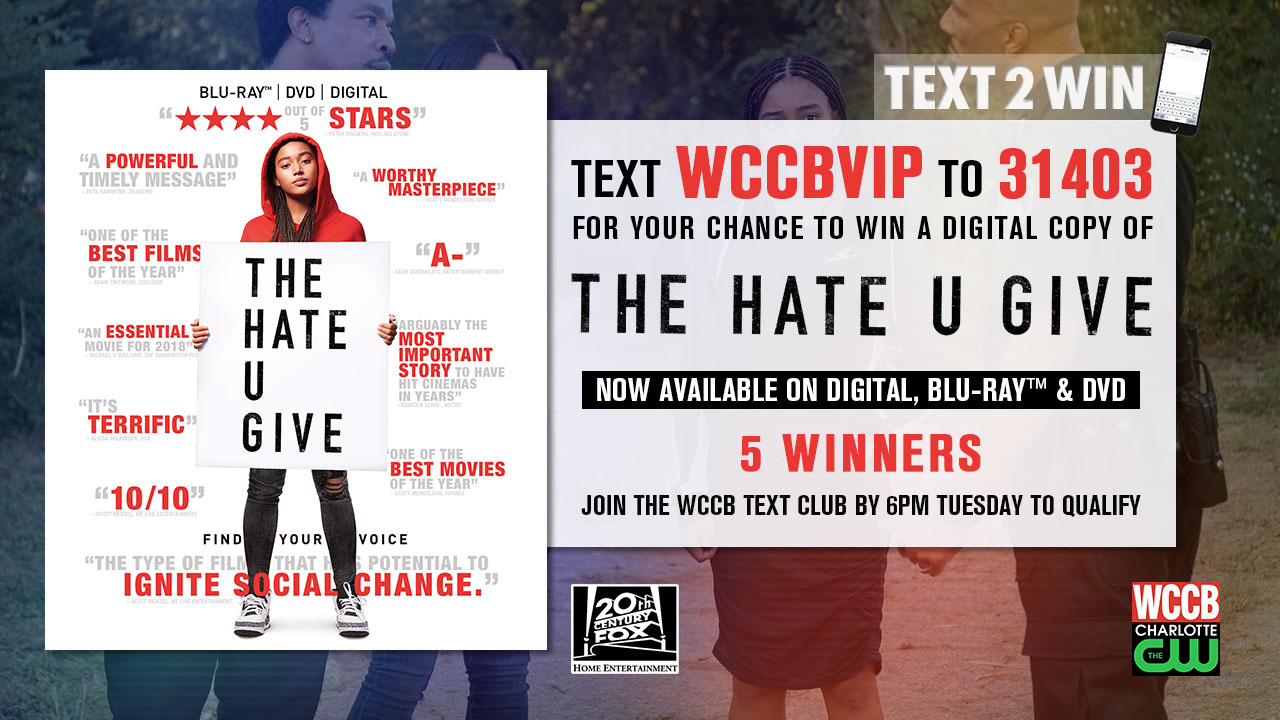Win a digital copy of The Hate U Give from WCCB Charlotte's CW