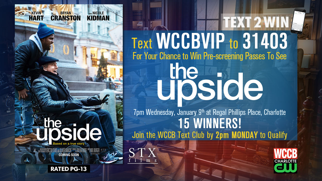 Win pre-screening passes to see The Upside, from WCCB Charlotte's CW