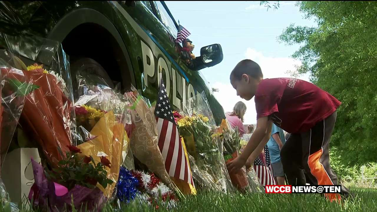 Community Remembering Mooresville Police Officer Killed in
