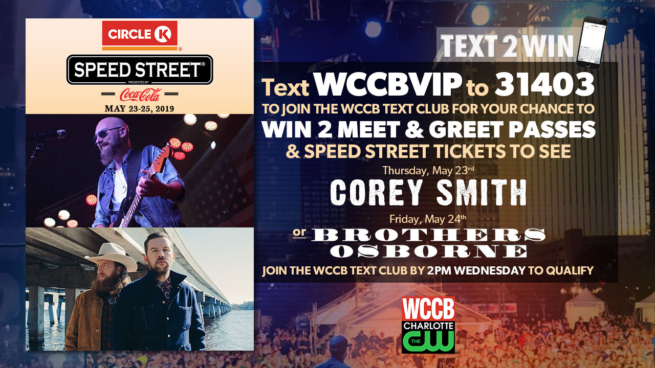Text2Win Circle K Speed Street And Meet & Greet Passes For Corey