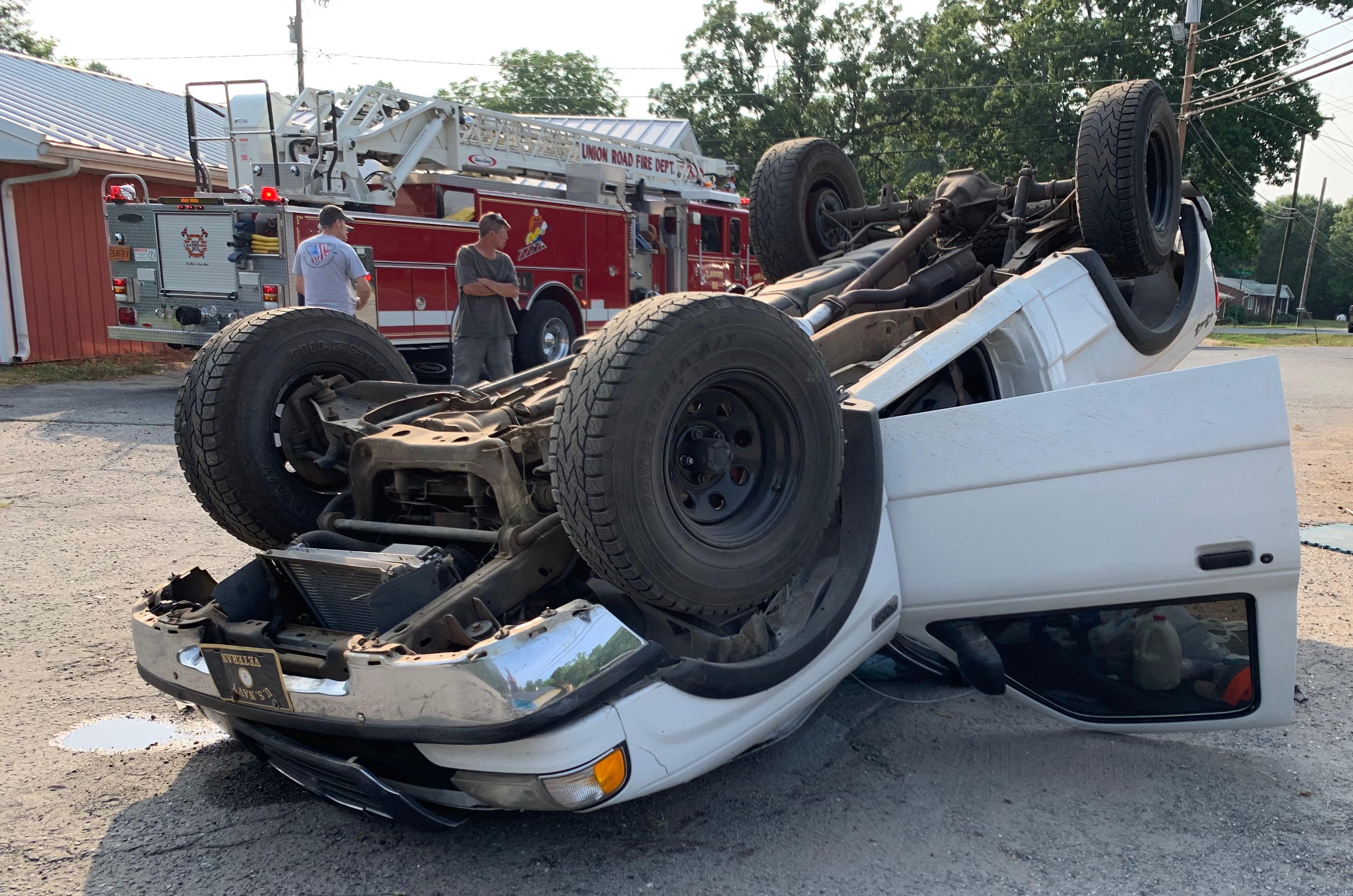 Rollover Accident Ends Up In Parking Lot Of Popular Gastonia