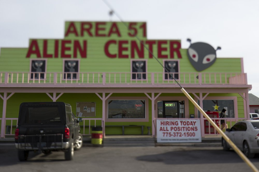 the Area 51 Alien Center in Amargosa Valley, Nevada, about 90 miles north of Las Vegas